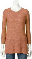 Croft & Barrow Women's Textured Crewneck Sweater