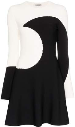 Valentino Luna intarsia flared mini dress