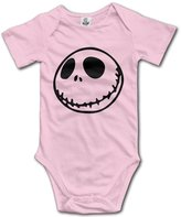 Mocke Unisex Nightmare Before Christmas Smiley Face Emoji Baby Onesie Infant Bodysuit