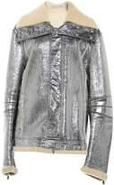 Bottega Veneta Metallic Leather Jackets