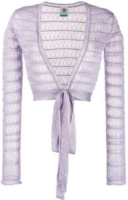 M Missoni Cropped Lace Jacket
