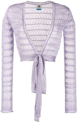 M Missoni cropped lace jacket