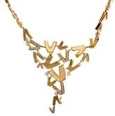 Versace V-Divine 18K Yellow Gold & Diamond Necklace