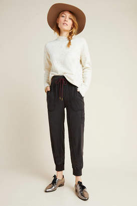 Anthropologie Mixed-Knit Joggers