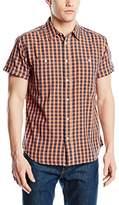 Wrangler Men's 2 Pocket Regular Fit Short Sleeve Casual Shirt