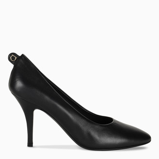 Salvatore Ferragamo Black Gancini pumps