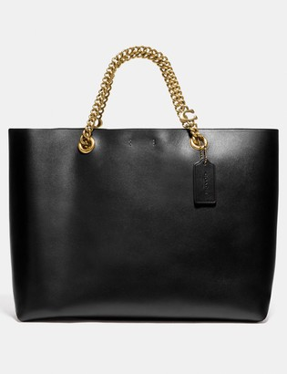Coach Signature Chain Central Tote