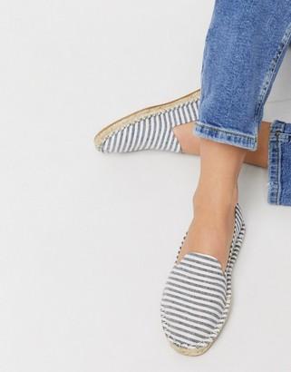 Asos Design DESIGN Jual espadrilles in blue stripe