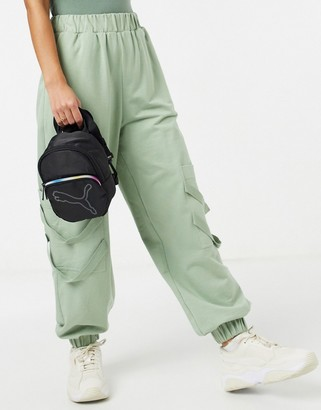 Puma Essentials mini convertible backpack cross body in black