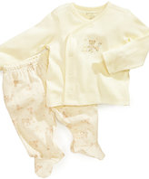 First Impressions Baby Set, Baby Boy or Baby Girls Asymmetrical Shirt and Footed Pants