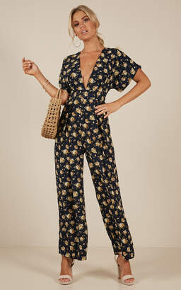 Showpo Midnight City jumpsuit in navy floral - 6 (XS) Sale Jumpsuits
