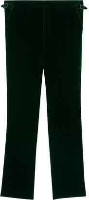 Burberry Velvet-Effect Tailored Trousers