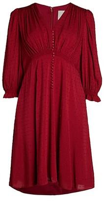 Gal Meets Glam Aline Smocked Shoulder Dress