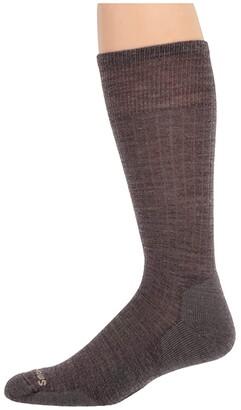 Smartwool New Classic Rib (Taupe) Men's Crew Cut Socks Shoes