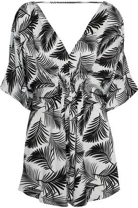 Onia Alessandra Shirred Printed Gauze Coverup