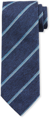 Brioni Textured Stripe Silk Tie