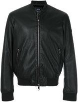 Armani Jeans embossed back logo bomber jacket