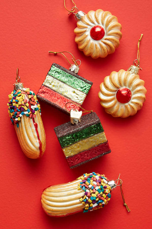 Anthropologie Italian Cookie Ornaments, Set of 6