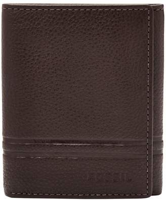 Fossil Wilder Leather Tri-Fold Wallet