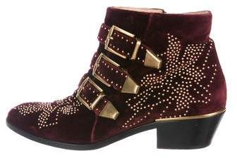 Chloé Studded Ankle Boots