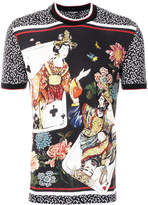 Dolce & Gabbana geisha and cards-print T-shirt