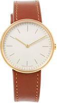 Uniform Wares Tan Leather Strap Gold M35 Watch
