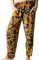 Lesstag Women's Cotton Print Beach Slack Pants