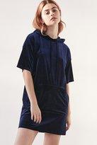 Silence & Noise Silence + Noise Velvet Hoodie T-Shirt Dress