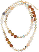 Greenbeads by Emily & Ashley Long Crystal Beaded Necklace, Neutral