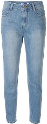 Sjyp Zip Embellished Jeans