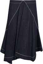 Marni Asymmetric Denim Midi Skirt - Blue