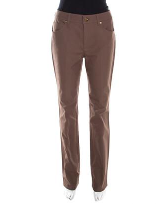 Escada Camel Brown Stretch Denim High Rise Straight Leg Tessa Jeans M