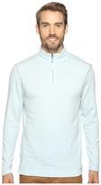 True Grit Lightweight Tencel Zip Pullover w/ Heather Trim Men's Clothing