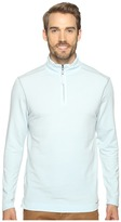 True Grit Lightweight Tencel Zip Pullover w/ Heather Trim
