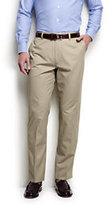 Lands' End Men's Traditional Fit Summer Lightweight Twill Pants-White Stripe