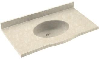 "Swan Europa Solid Surface 49"" Single Bathroom Vanity Top Top Finish: Cloud Bone"