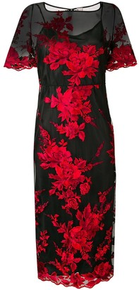 Antonio Marras Floral Embroidered Sheer Dress