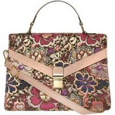 Dorothy Perkins Womens Pink Jacquard Handle Tote Bag- Pink