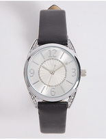 M&S Collection Round Face Strap Watch