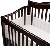 BreathableBaby Mesh Crib Liner-Fits All Cribs, Set of 2 - White by