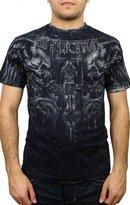 Affliction Mens Fragmented S/S Reversible T-Shirt, Size:, Color: Blk/Wht Lava Tint