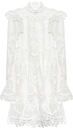 Zimmermann Palm lace minidress