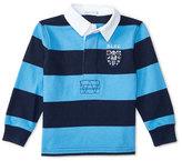 Ralph Lauren Striped Rugby Jersey, Blue, Size 9-24 Months