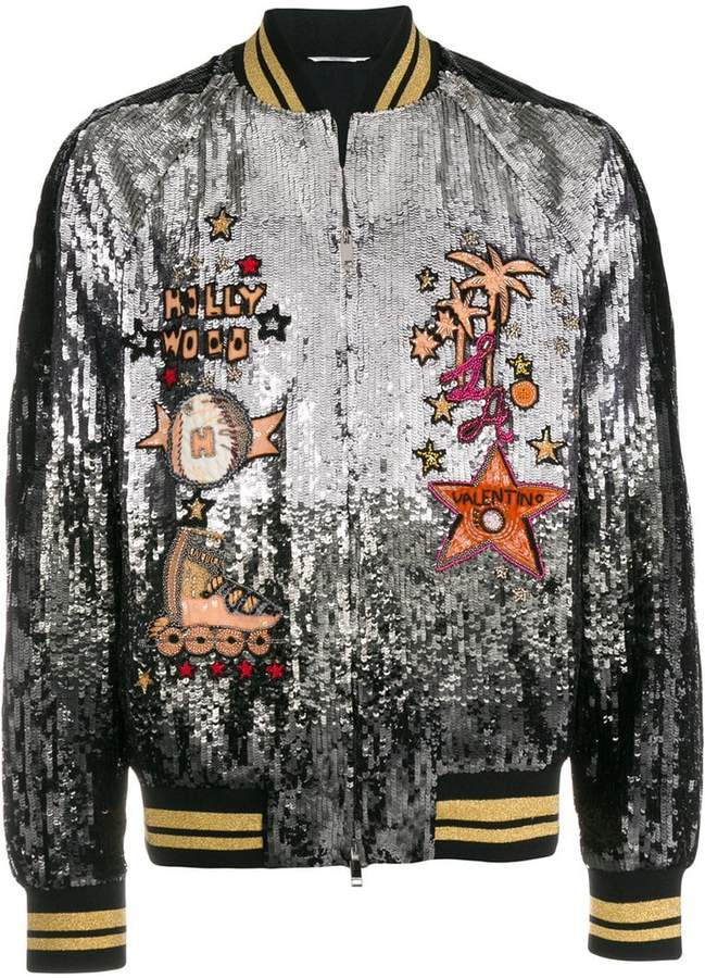 Valentino sequined bomber jacket