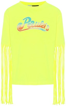 Loewe Paula's Ibiza fringe-trimmed T-shirt