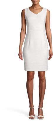 Anne Klein V-Neck Sleeveless Sheath Dress