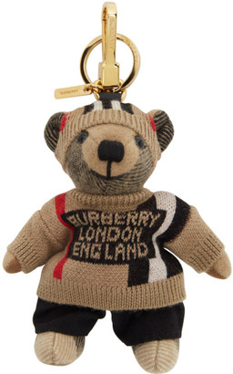 Burberry Beige Icon Check Thomas Trench Keychain