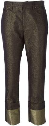 Maison Margiela metallic jeans