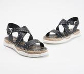 Sam Edelman Leather Buckle Strap Sandals - Janette