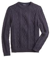 Brooks Brothers Boys' Cable-Knit Crewneck Sweater - Little Kid, Big Kid